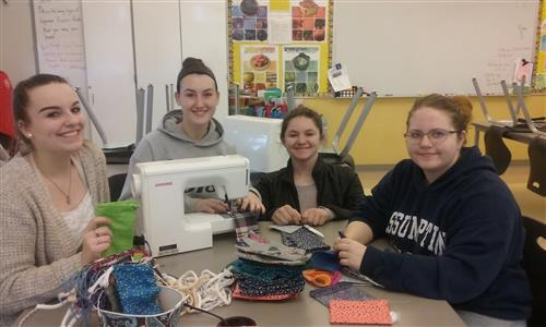 FCL Sewing 350+ Sleeping Bags for Unplugged Day 2017