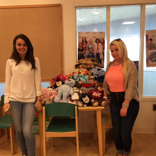 Stuffed Animals and Fleece Blankets at Children's Floating Hospital
